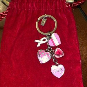Coach Breast Cancer Awareness Key Chain